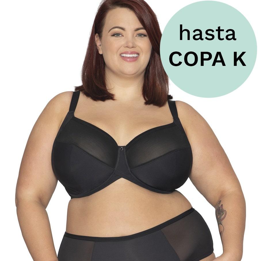 SUJETADOR COPA COMPLETA PARA TALLAS GRANDES, MODELO WONDERFULL, CURVY KATE.
